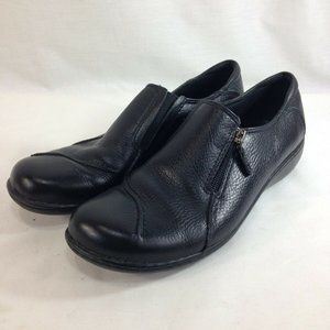 Clarks Bendables Shoes Womens 8.5M Black Leather